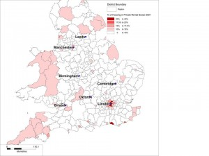 Buy to let map 2001