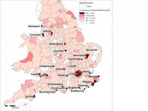 Buy to let heat map 2011