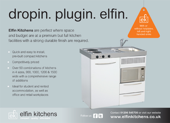 Cooking Sophistication With Elfinu0027s Compact Mini Kitchens Now Every Kitchen  Supplied With A+ Rated Fridge