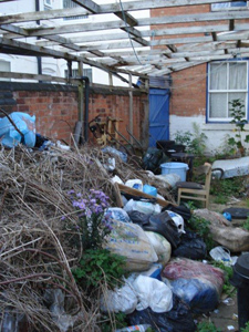 rubbish garden