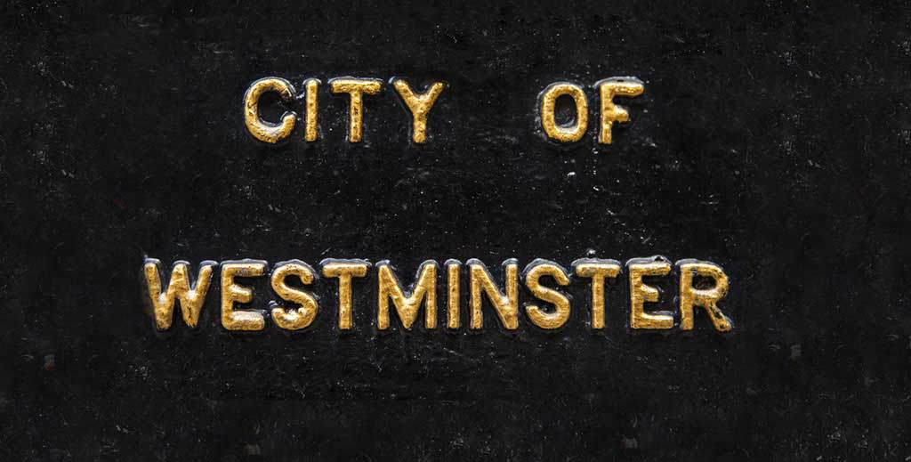 Westminster council sign